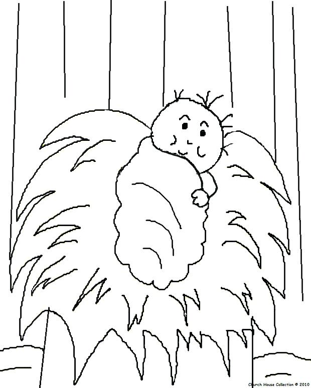 620x774 Baby Jesus In Manger Coloring Page Manger Coloring Pages Free