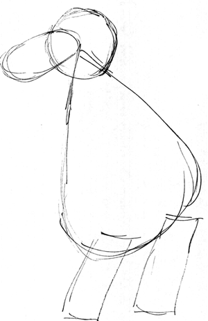 300x464 How To Draw Kangaroos And Baby Joey In Her Pouch Cartoon With Easy