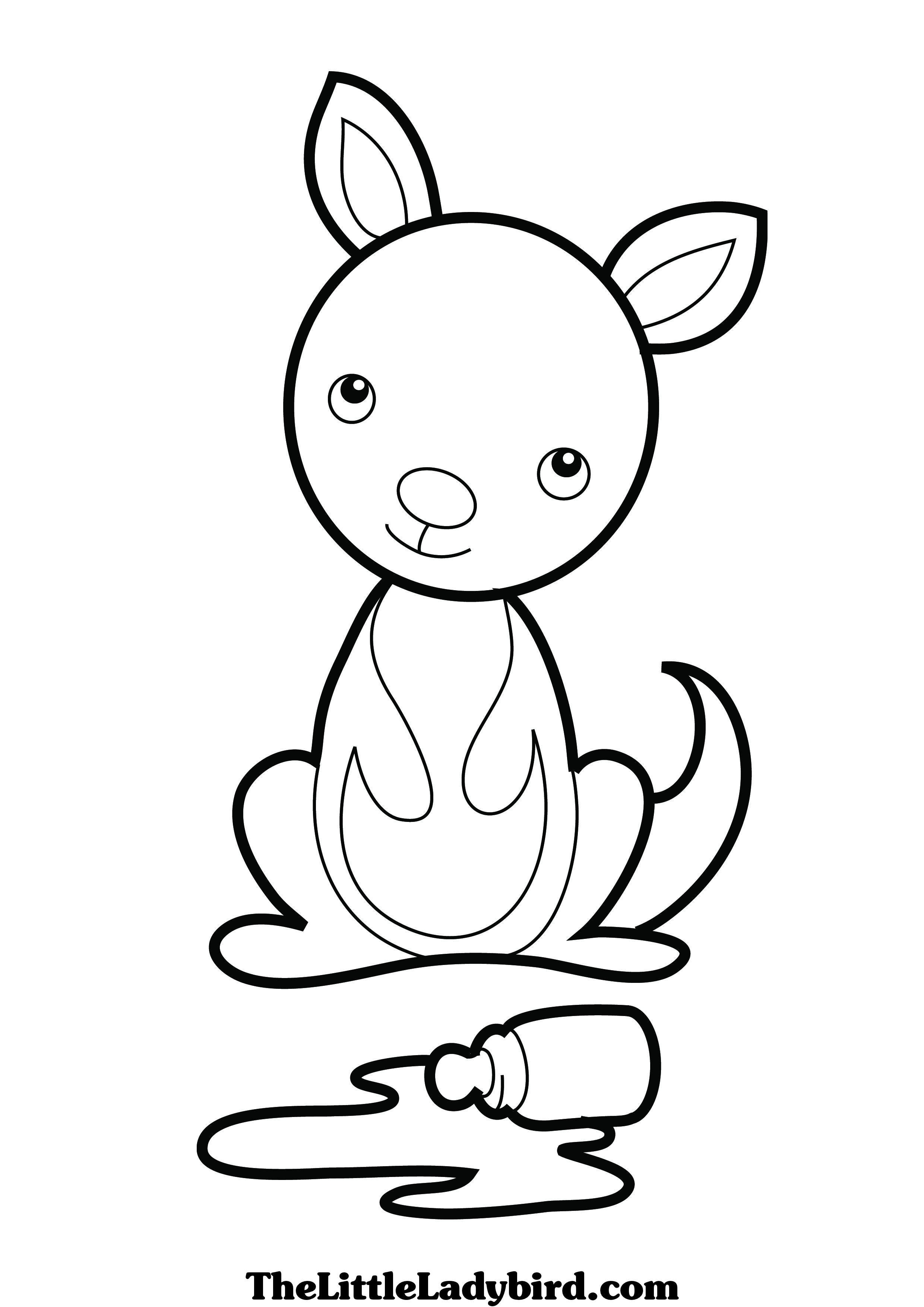 2480x3508 Baby Kangaroo Coloring Pages Colouring In Beatiful Draw Print Page
