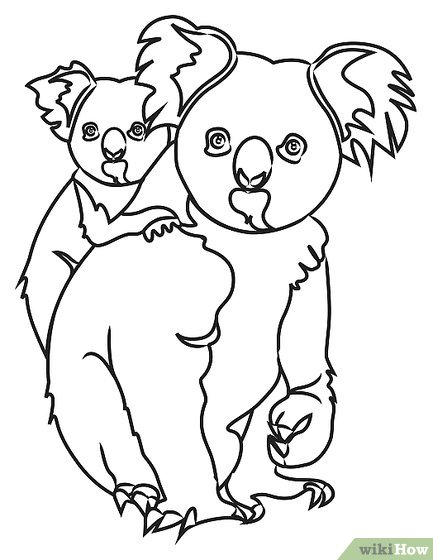 433x560 How To Draw Koala Bears 9 Steps (With Pictures)