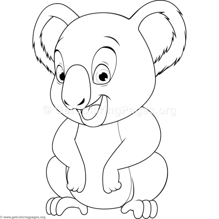 700x700 Baby Koala Coloring Pages
