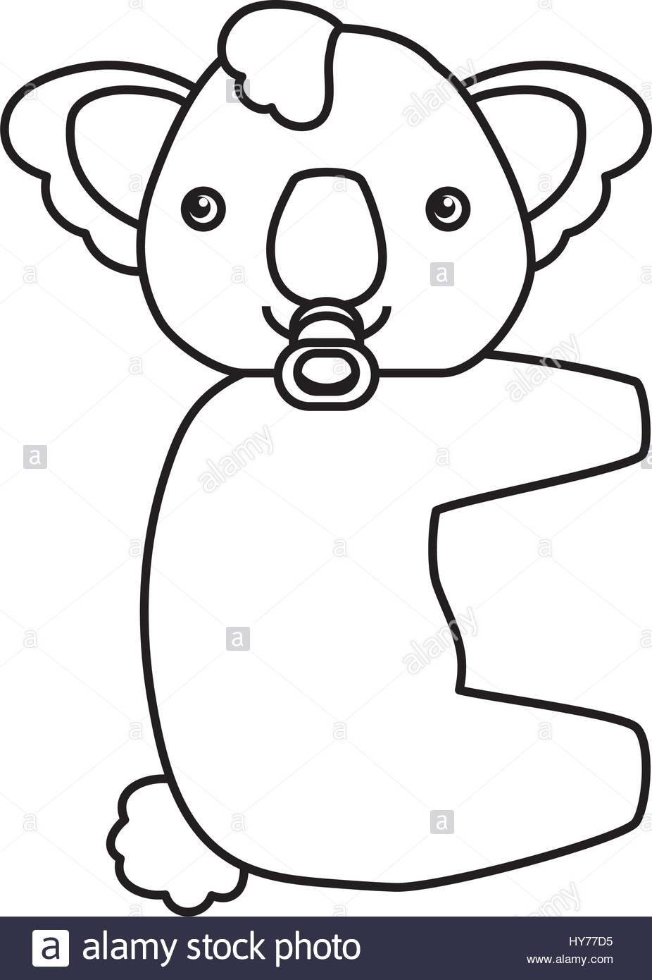 926x1390 Baby Koala Cartoon Animal Vector Icon Illustration Stock Vector