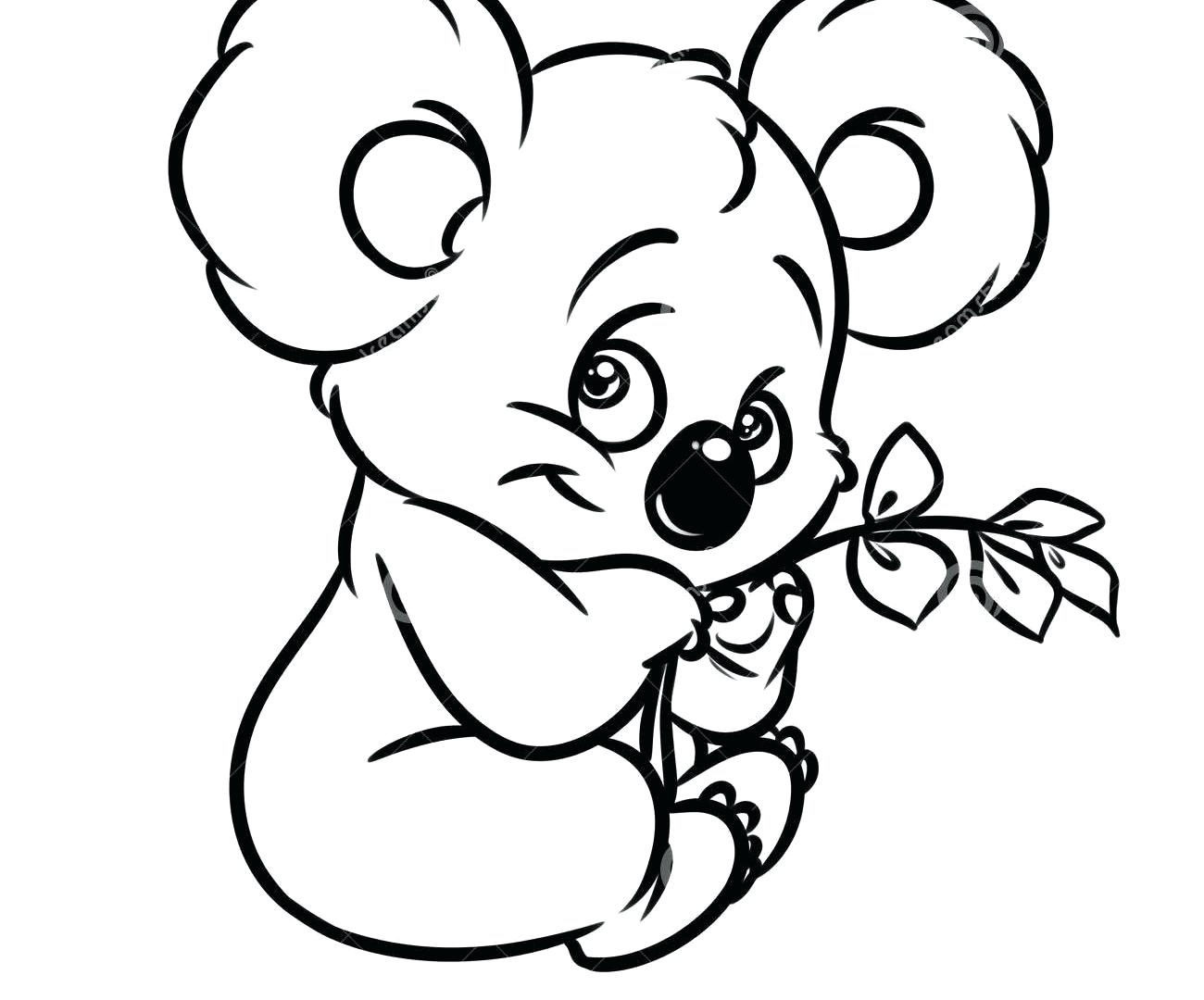 It is a photo of Soft Koala Bears Coloring Pages