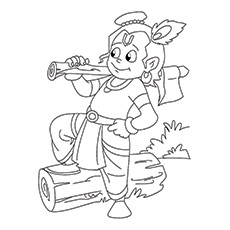 Baby Krishna Drawing