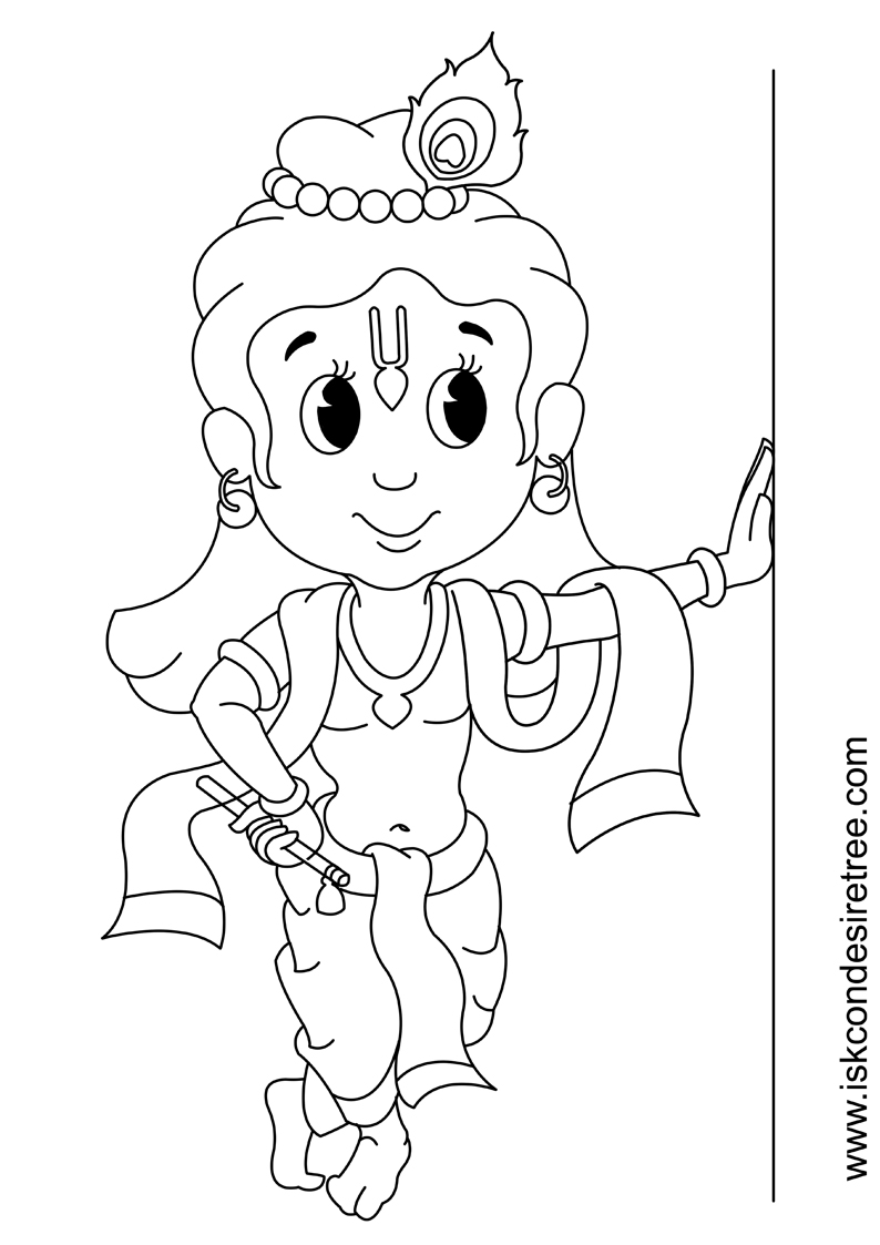 794x1123 Coloring Page For Kids Little Krishna Party