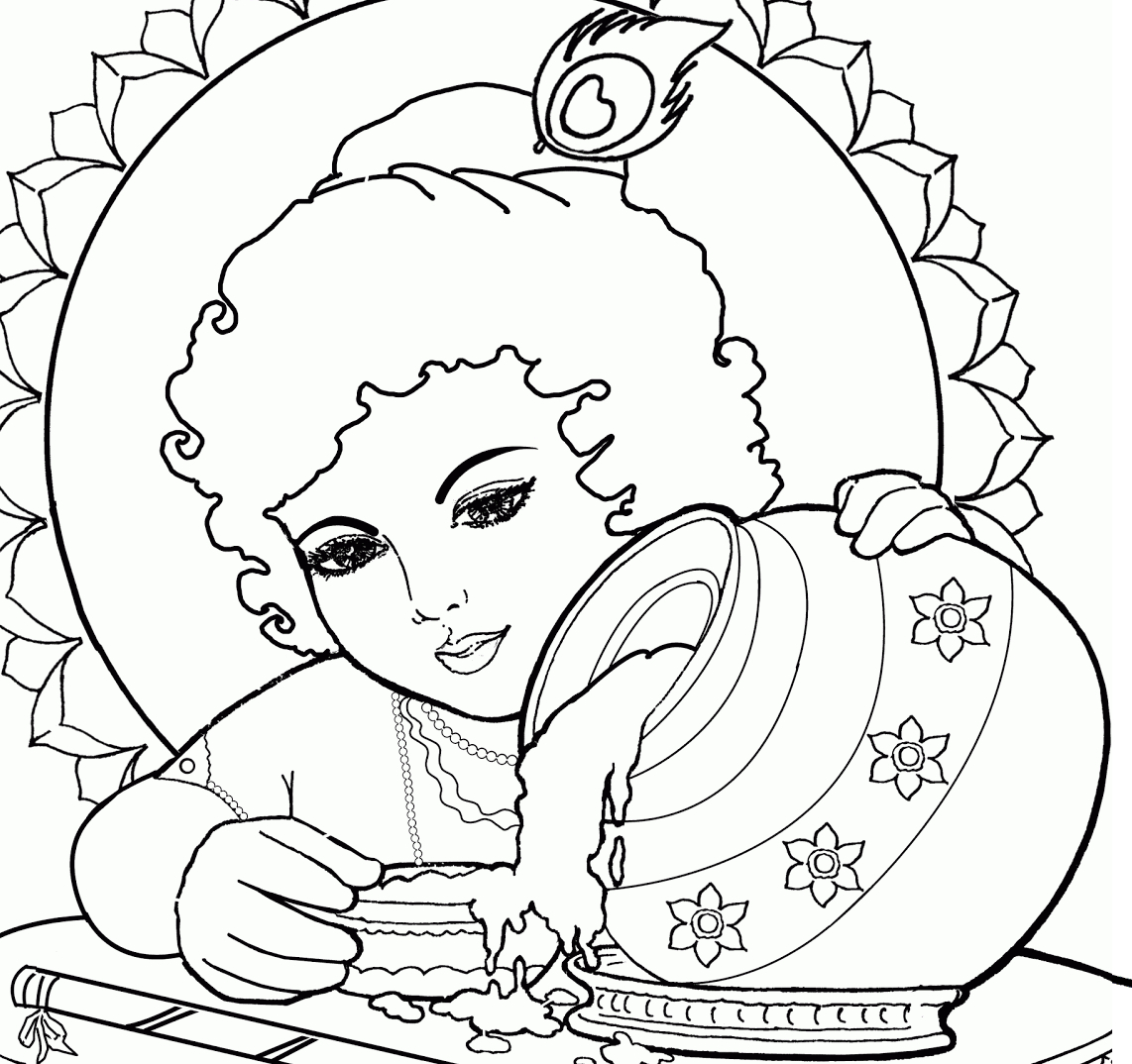 1142x1074 Cute Baby Krishna Sketch Pictures Cute Baby Krishna Drawing