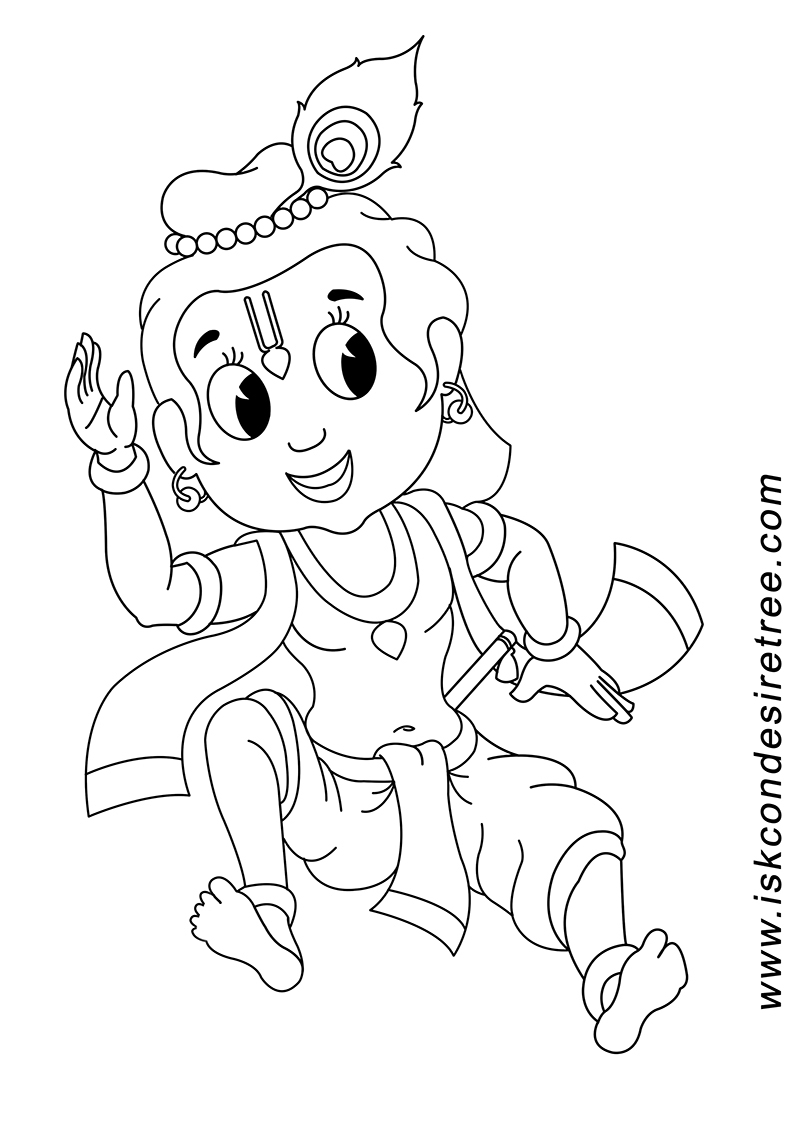 794x1123 Cute Baby Krishna Sketch Simple Cartoon Sketch Of Lord Krishna