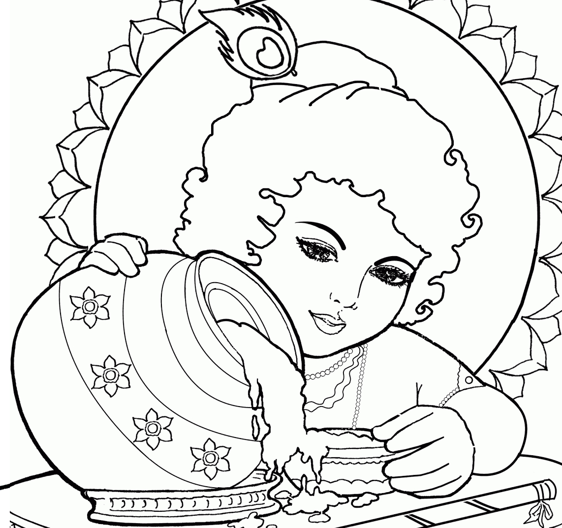 1142x1074 Drawing Picture Of Krishna Colour Drawing Free Wallpaper Lord Baby
