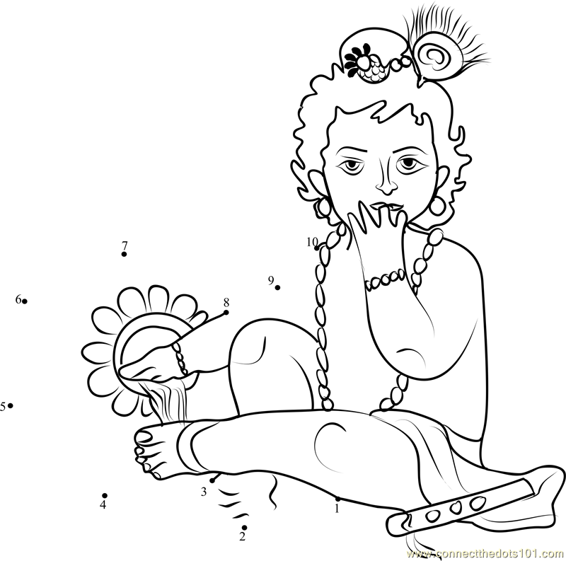 baby krishna drawing at getdrawingscom free for personal use baby