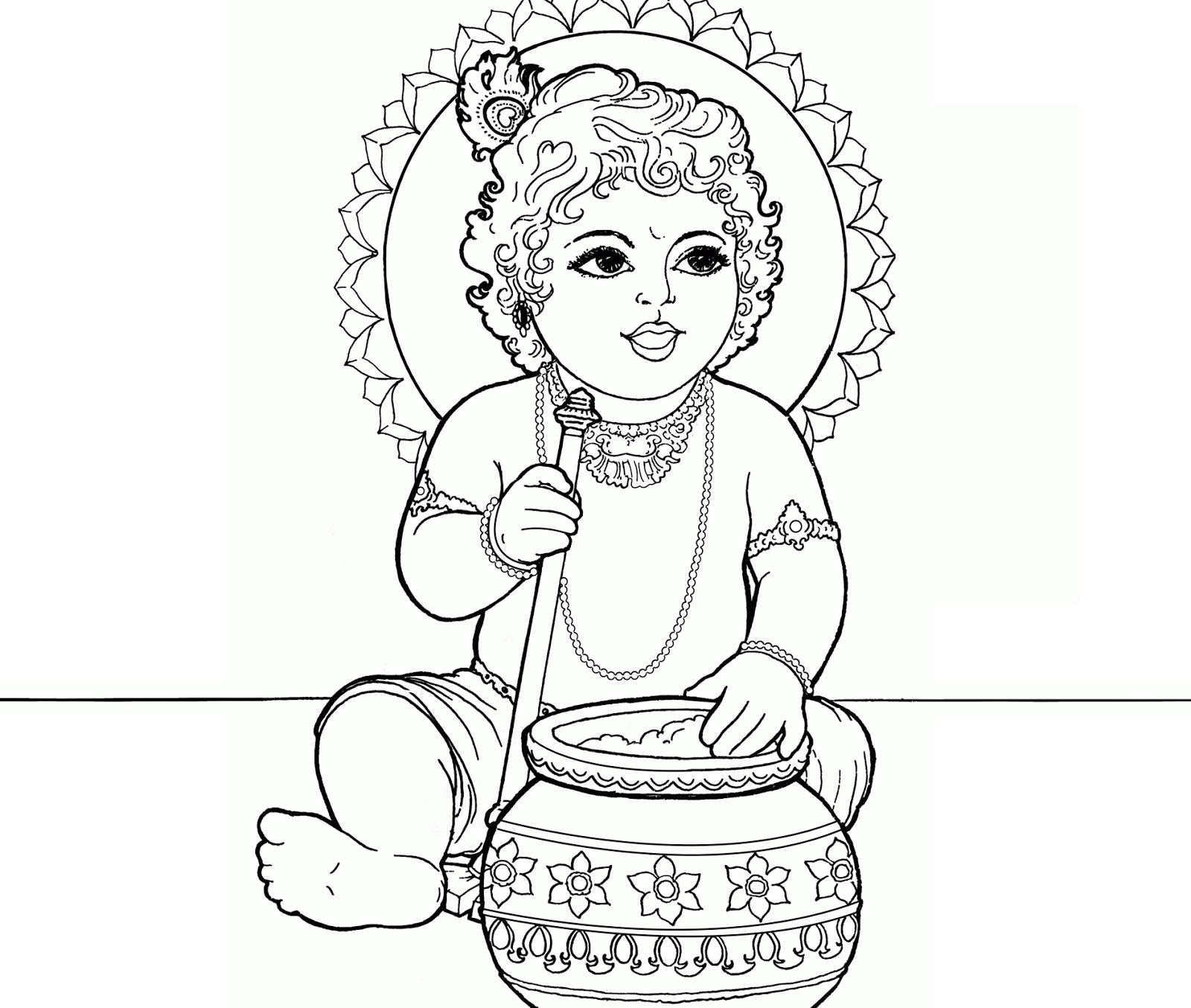 1600x1354 Krishna Coloring