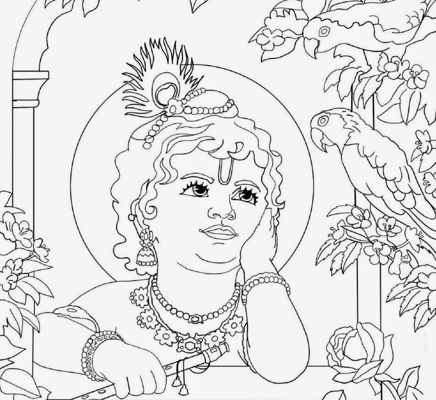 1483x1361 Baby Krishna Drawing Photo Lord Baby Krishna Sketch Krishna Images