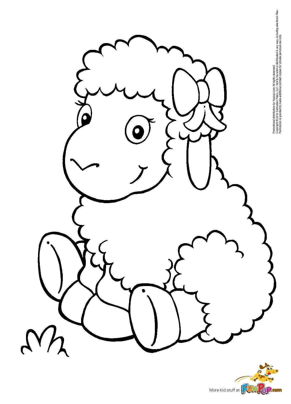 Baby Lamb Coloring Pages - Master Coloring Pages