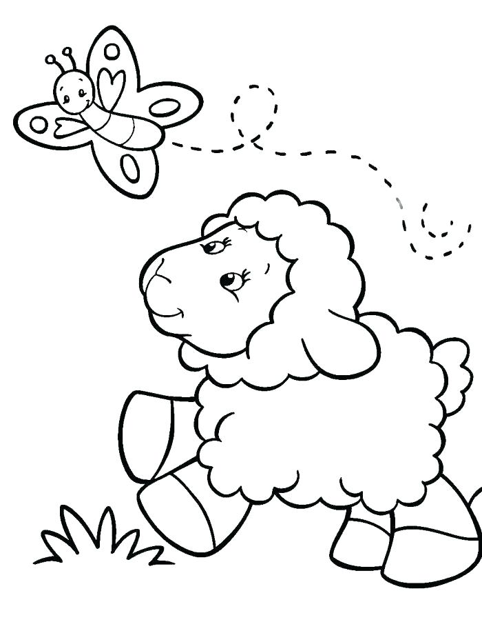 700x931 Coloring Page Sheep
