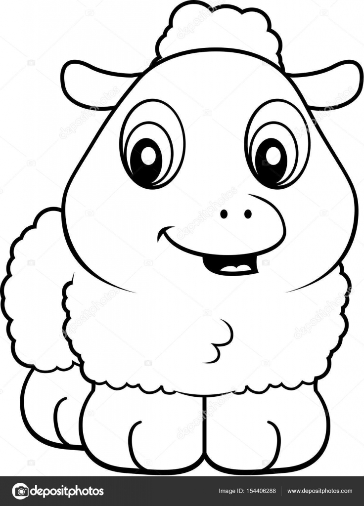 736x1024 Cartoon Baby Lamb Stock Vector Cthoman