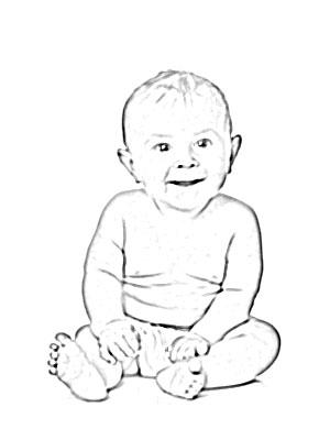 300x400 Happy Baby Sketch