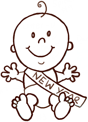 367x509 How To Draw Baby New Year With Easy Steps