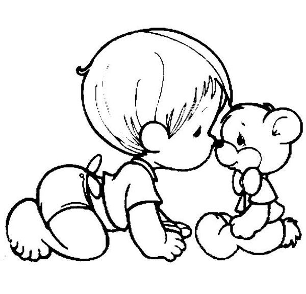 600x576 Pictures Baby Line Drawing,