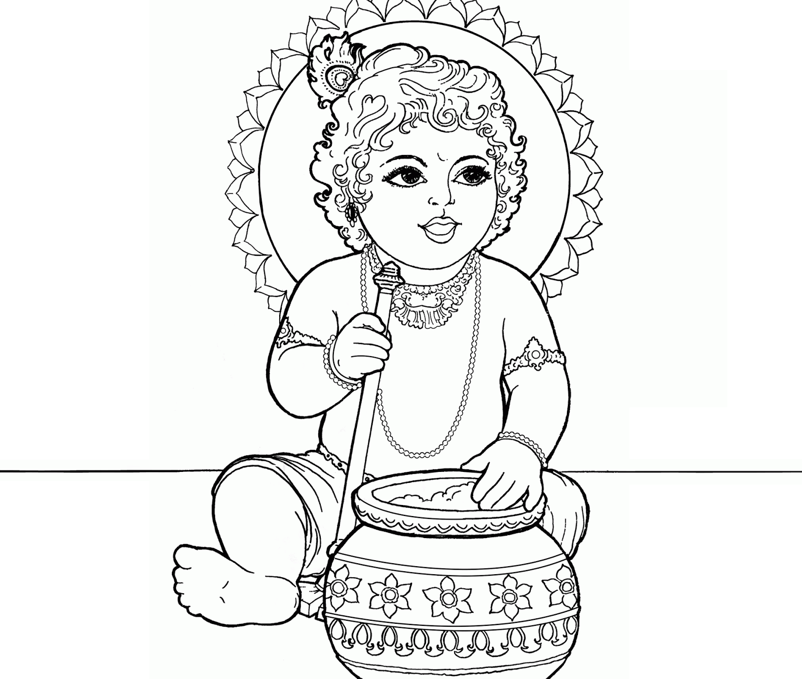 1600x1354 Pictures God Baby Krishna Sketches,