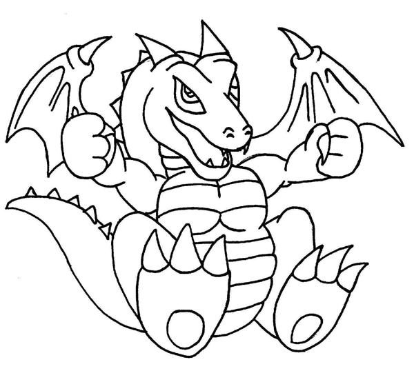 600x554 Baby Dragon Line Art By Kamakazi32