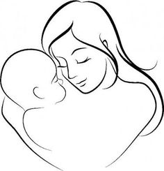 236x245 Mom And Baby Drawings Vector Of Mother And Baby Icon Woman