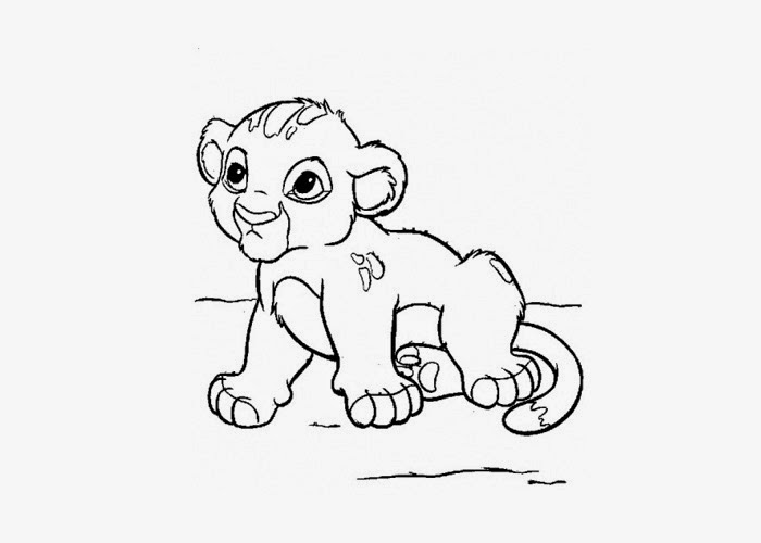 700x500 Baby Lion Coloring Page Free Pages And Books