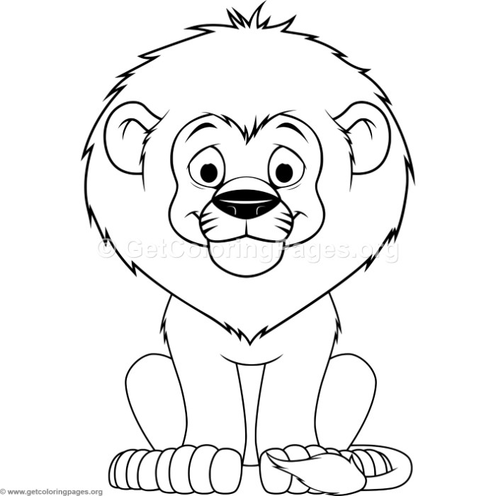 700x700 Cartoon Baby Lion Coloring Pages