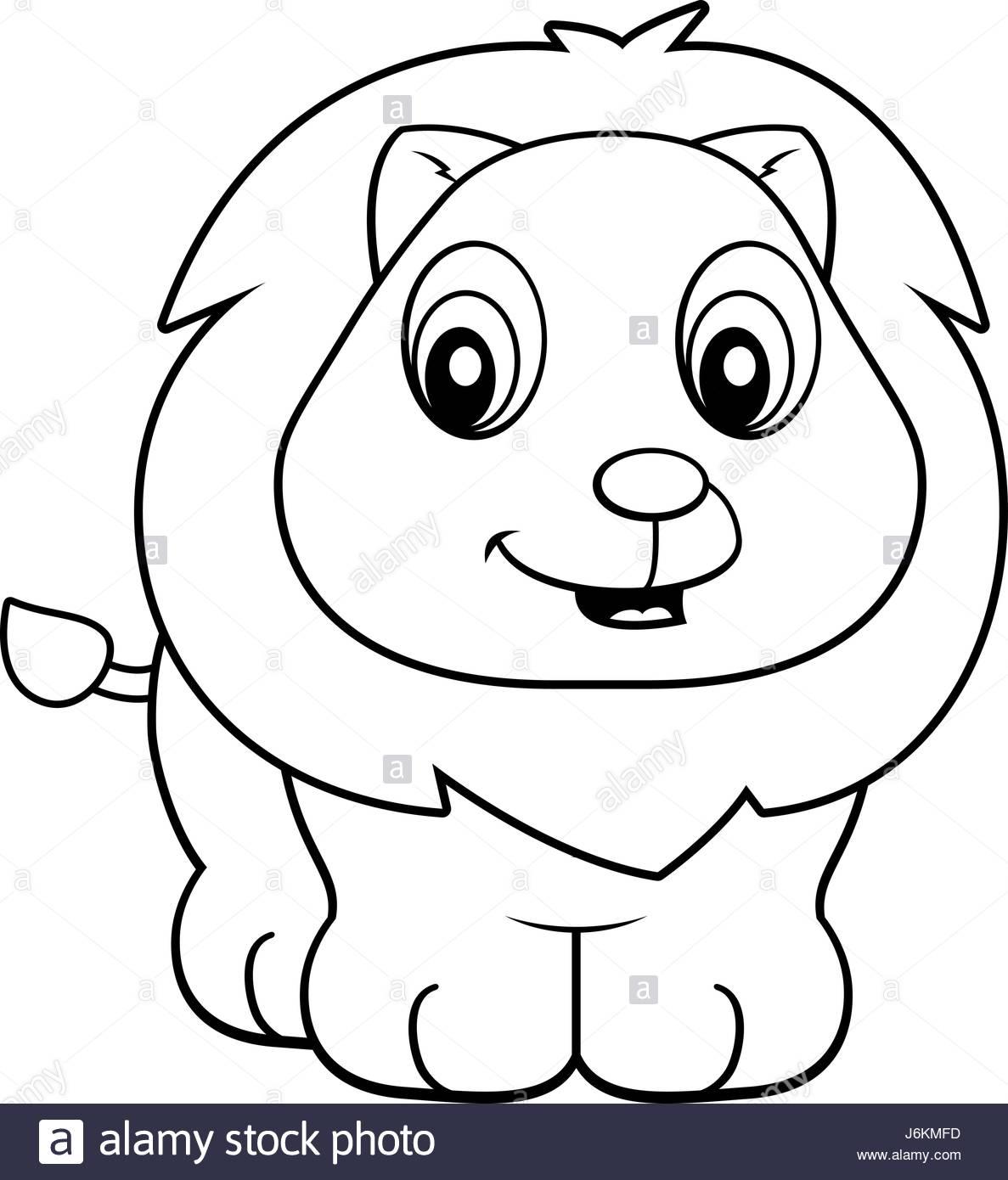 1187x1390 Happy Cartoon Baby Lion Standing Stock Photos Amp Happy Cartoon Baby