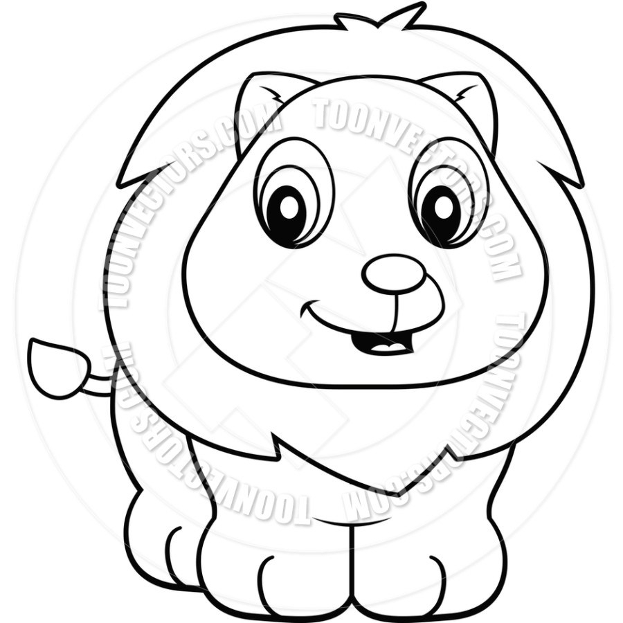Baby Lion Drawing at GetDrawings.com | Free for personal use Baby ...