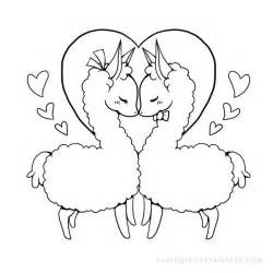 250x250 Mother And Baby Llama Print Coloring Pages
