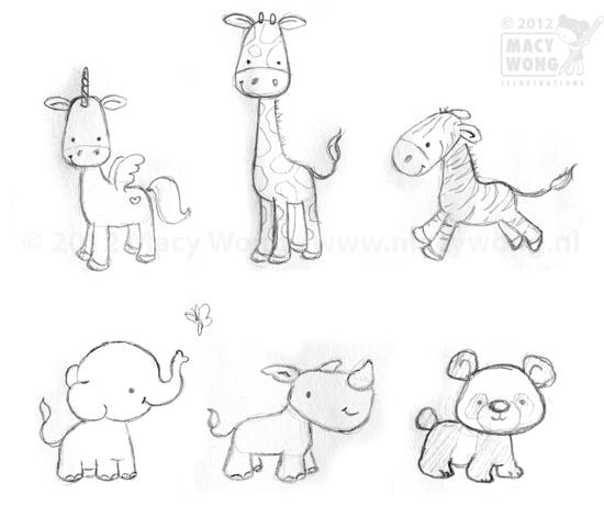550x471 Baby Animal Illustrations