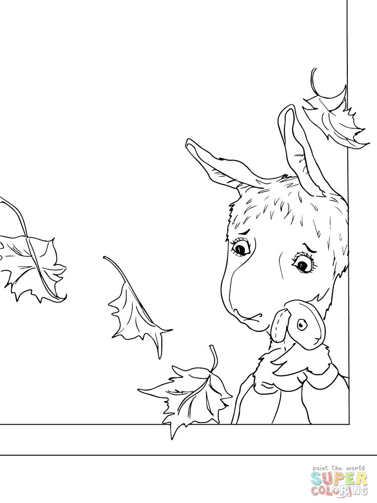 736x981 Llama Coloring Page