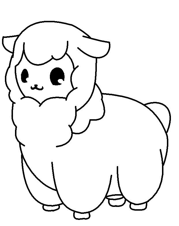 621x781 Baby Alpacasheepllama [Base] By Kana Ancheta