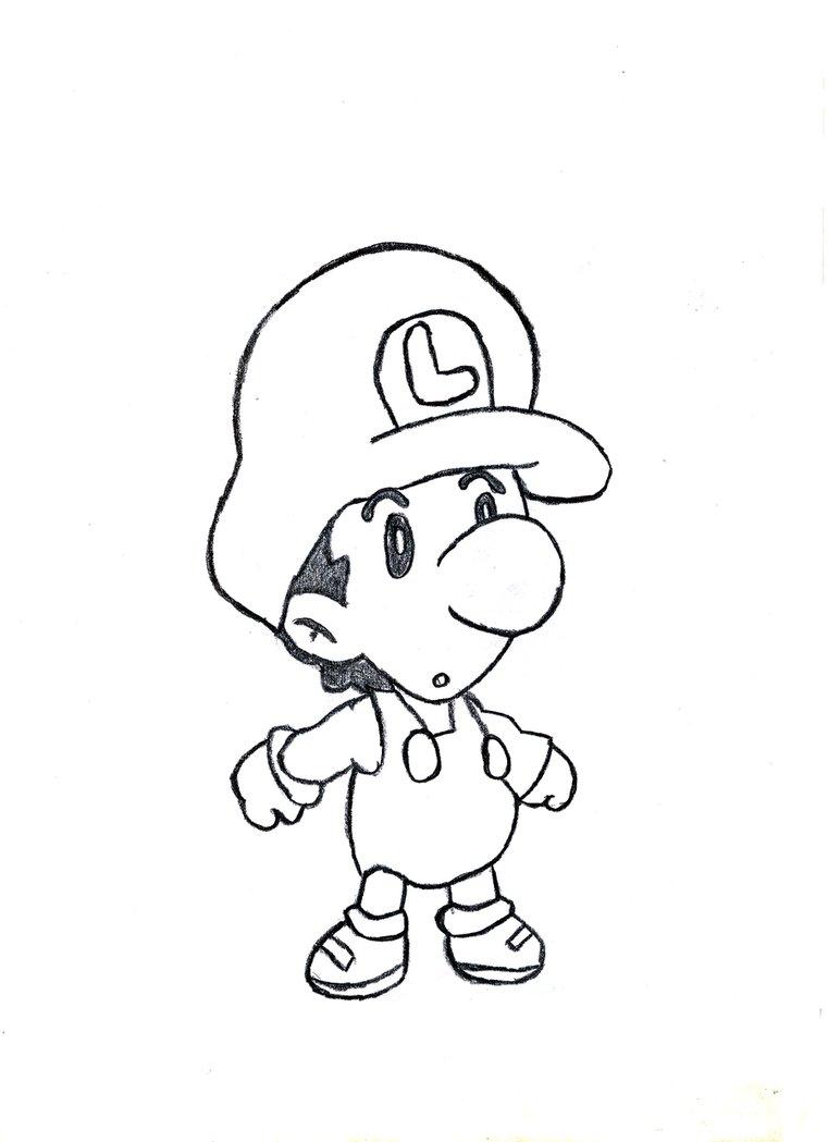 Increíble Baby Luigi Para Colorear Bosquejo - Ideas Para Colorear ...