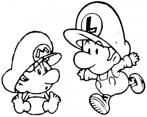 Kleurplaten Super Mario Bros 2.The Best Free Luigi Drawing Images Download From 304 Free Drawings