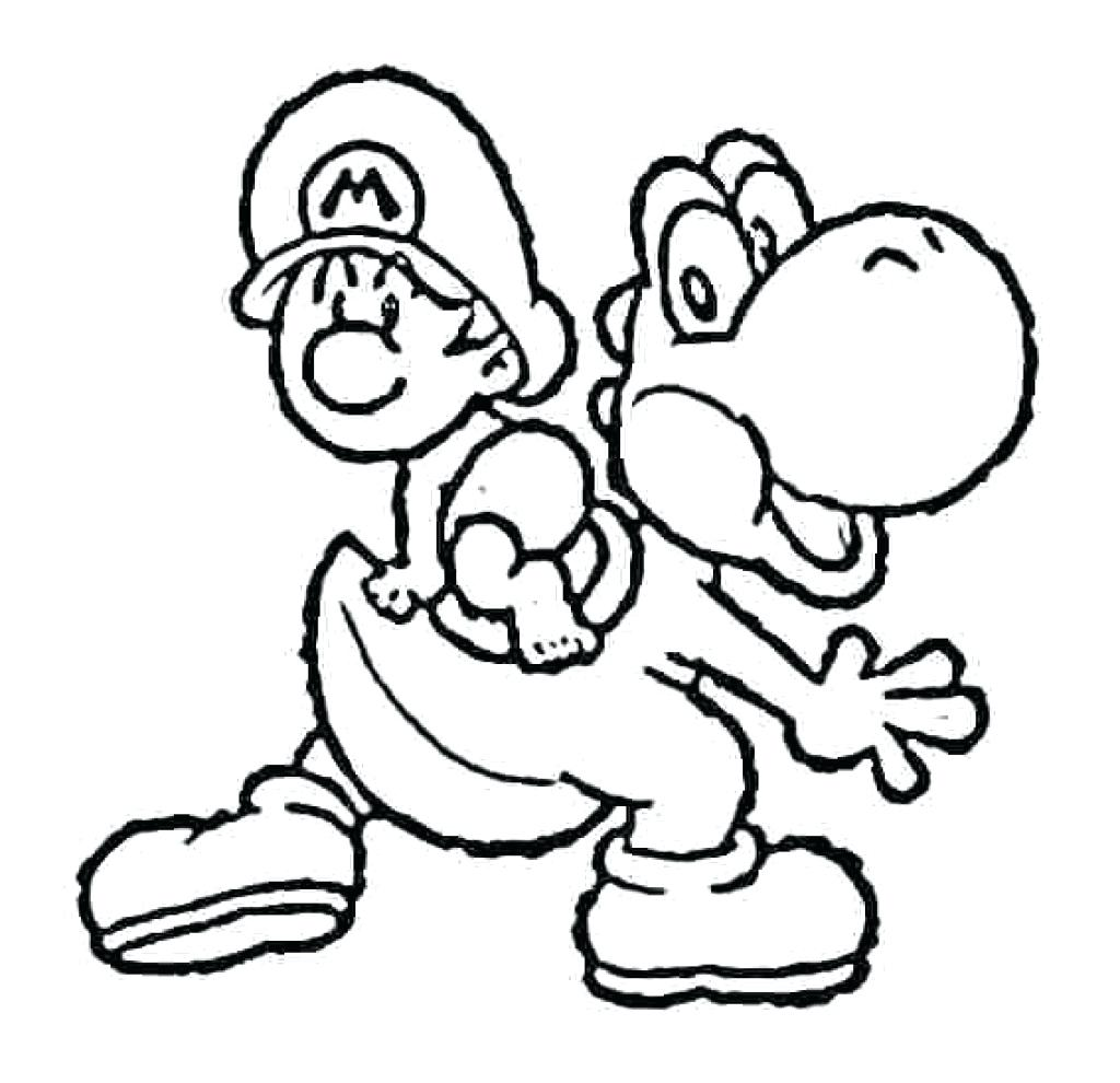 1024x990 Coloring Baby Luigi Coloring Pages