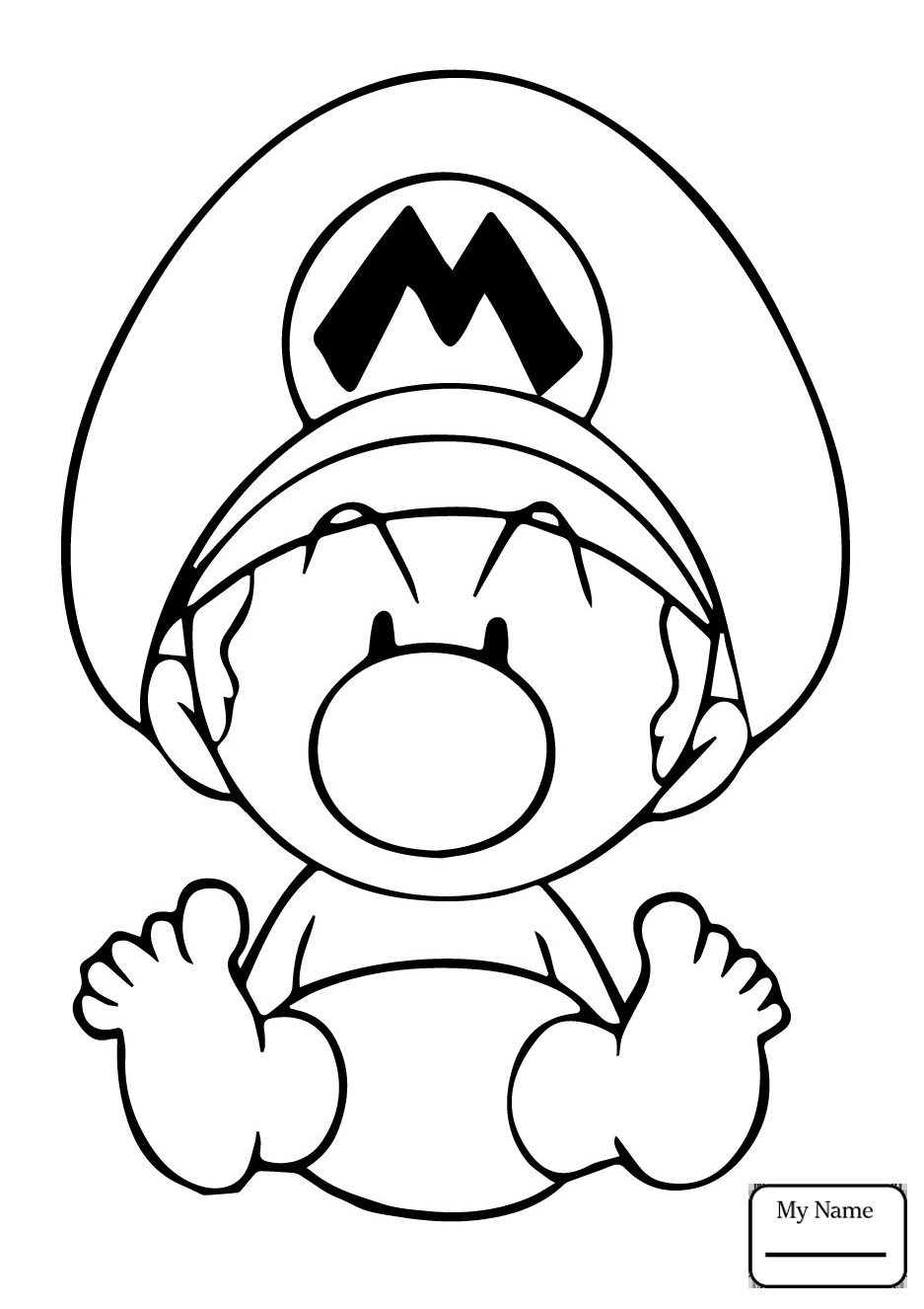 937x1326 Coloring Pages For Kids Baby Luigi Cartoons