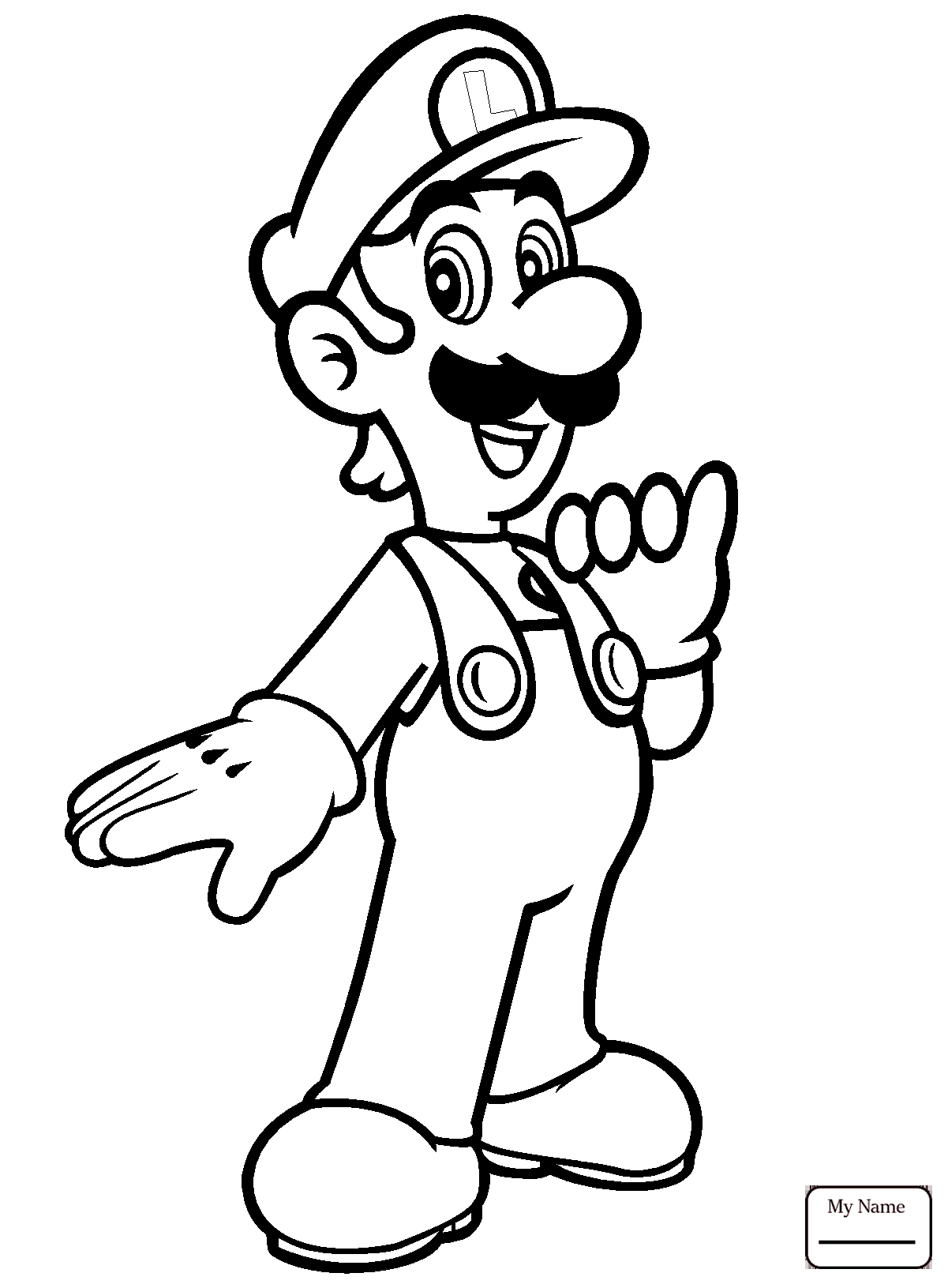 Baby Luigi Drawing at GetDrawings.com | Free for personal use Baby ...
