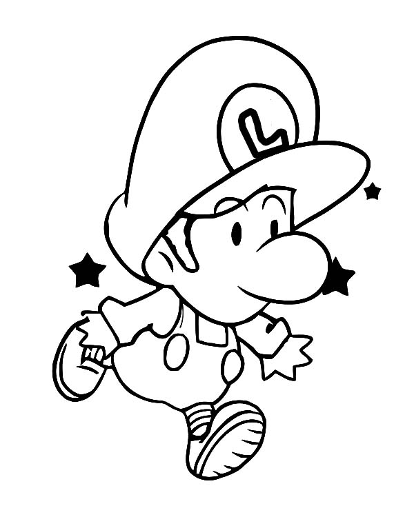 600x750 Baby Luigi Learn To Jump Coloring Pages Tima