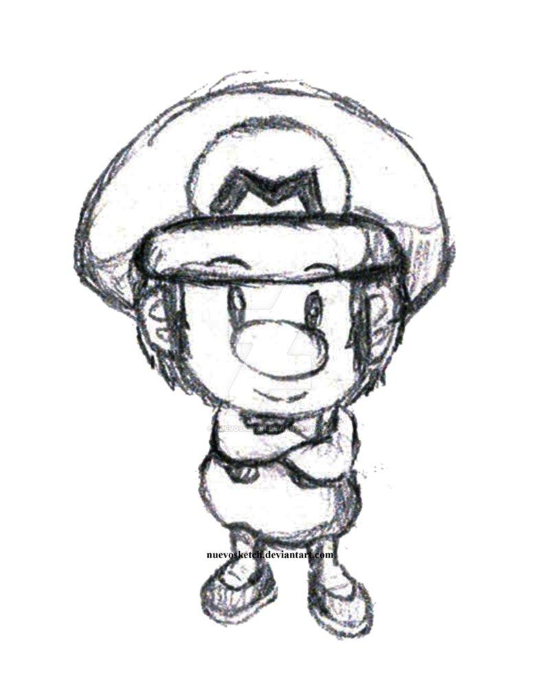 Baby Mario Drawing