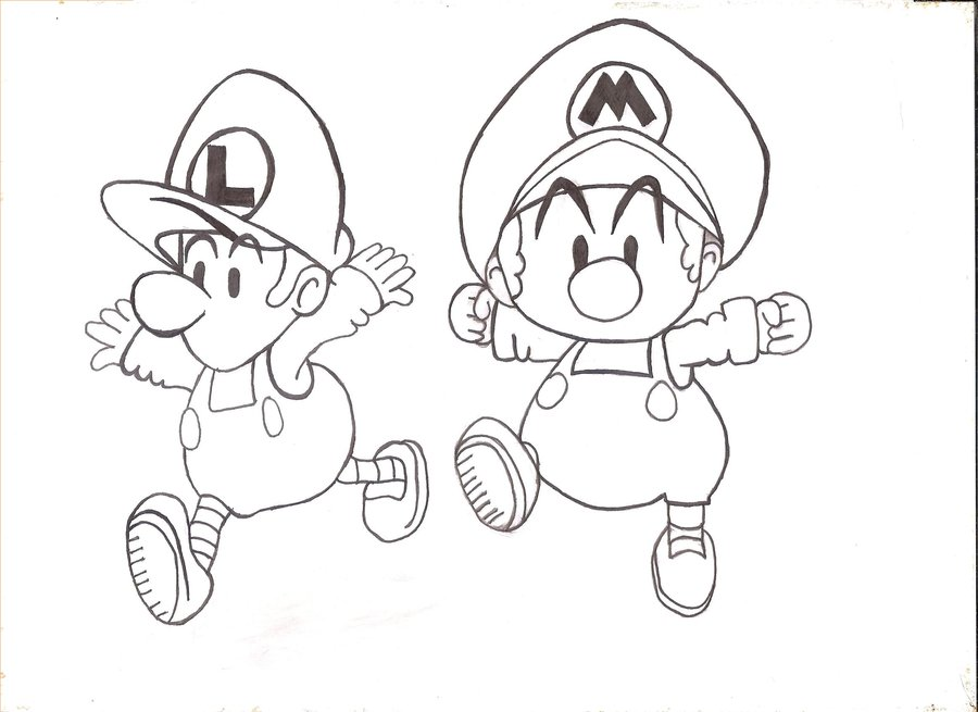900x655 Baby Mario And Luigi By Isishathor