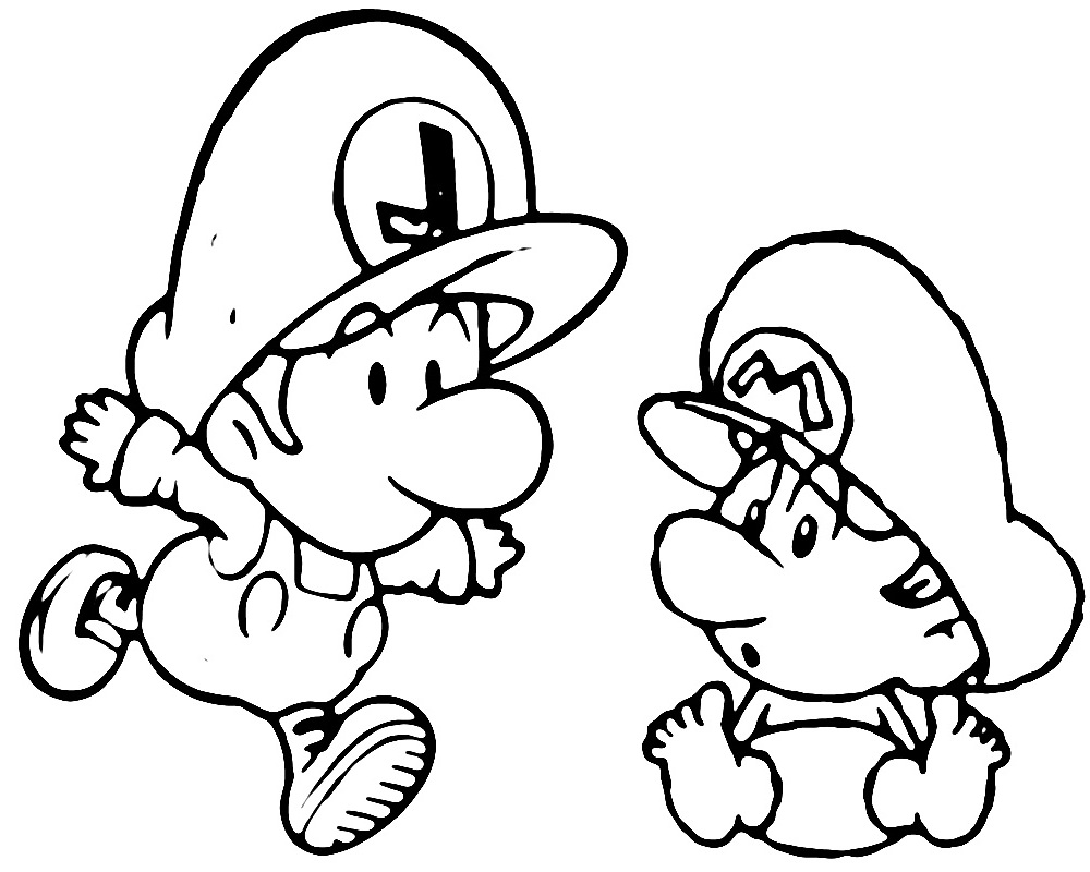 1000x800 Coloring Pages Baby Mario Coloring Pages To Print Yoshi Baby