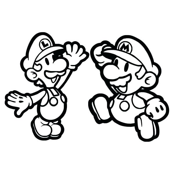 600x600 Epic Baby Mario Coloring Pages Print Coloring Pages