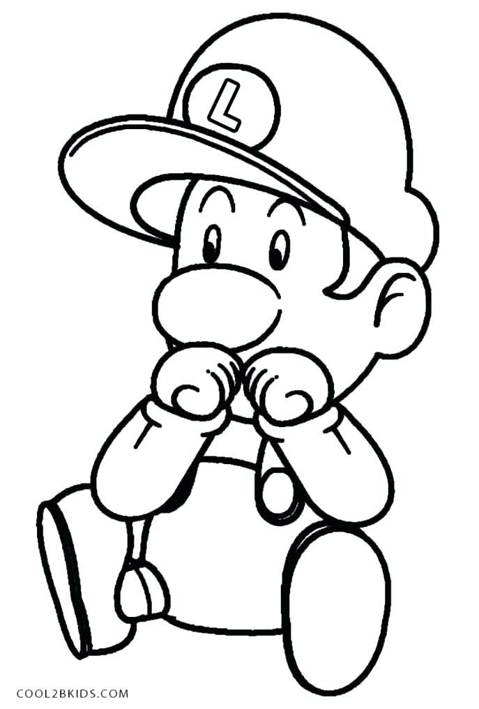 687x1016 Epic Baby Mario Coloring Pages Print To Medium Size Of