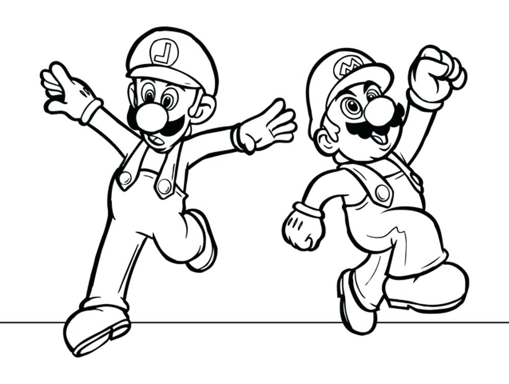 1000x754 Mario And Luigi Coloring Pages Super Bros Coloring Pages Baby