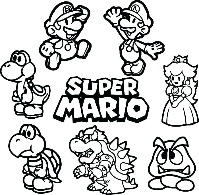700x687 Mario Luigi Coloring Pages Good Coloring Pages Image And Page