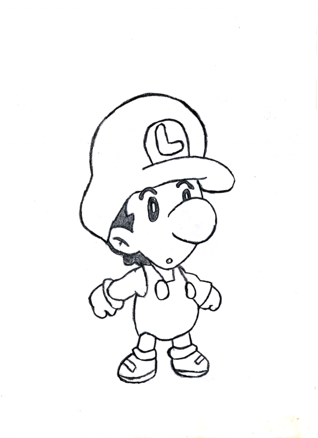 Baby Mario Drawing at GetDrawings.com | Free for personal use Baby ...