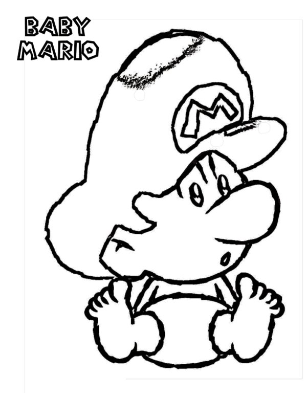 600x776 Mario Toad Coloring Pages