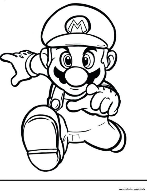 618x800 Running Bros Coloring Pages Printable Paper Luigi Baby Mario