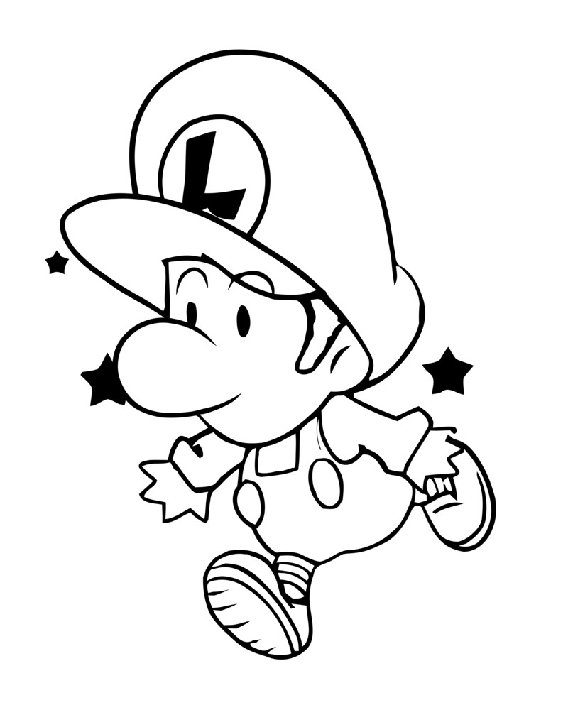 800x1000 Baby Luigi Coloring Page Coloring Book !!!! Luigi