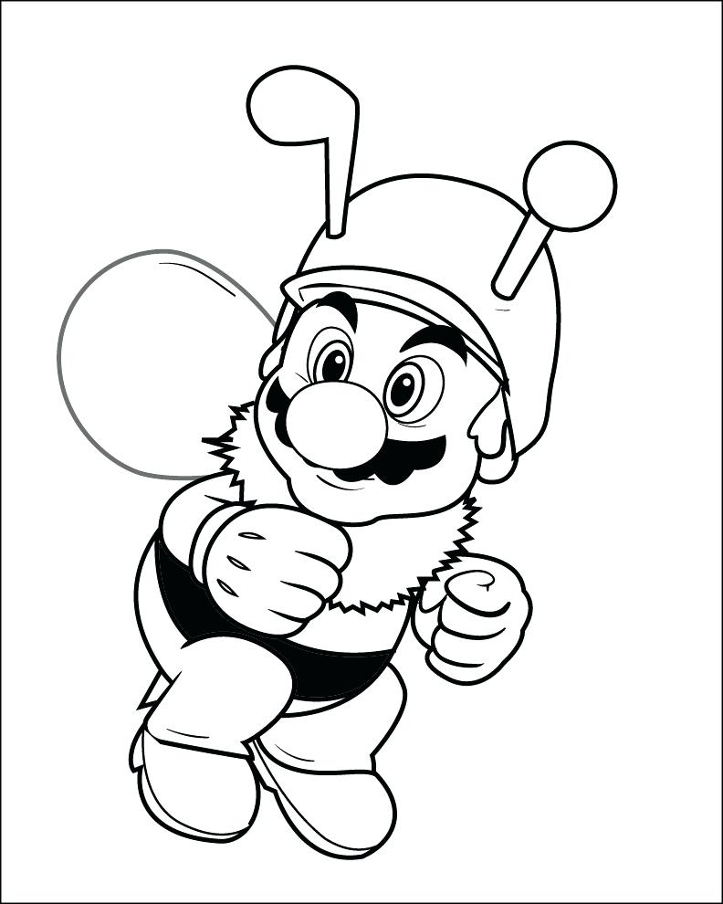 792x990 Baby Mario Coloring Pages To Print Colour In Baby Mario Coloring